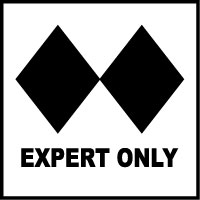 Stonehouse Signs Ski Signs Double Black Diamond Expert Only Trail Marker