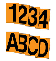 Stonehouse Signs Reflective Outdoor Decals Number and Letter Stickers