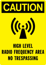 Stonehouse Signs Telecom High Level Radio Frequency Signs