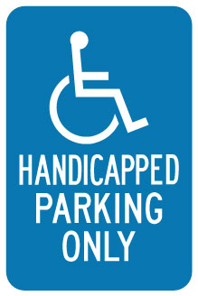Stonehouse Signs Parking Signs Handicapped Parking Only Sign