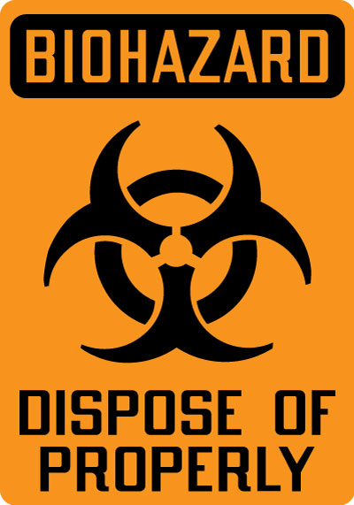Biohazard Sign - Biohazard: Dispose of Properly with ...
