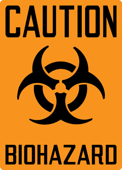 Biohazard Sign  Caution: Biohazard with Symbol  Stonehouse Signs