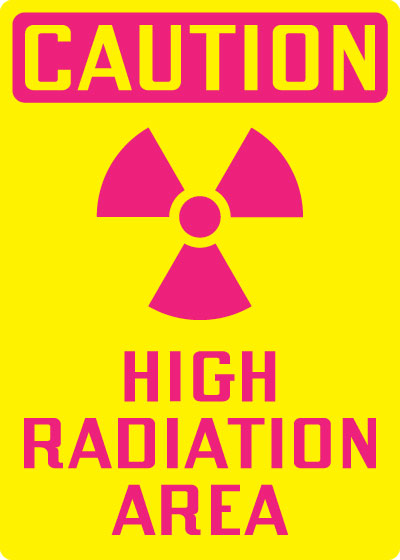 Radiation Hazard Sign Caution High Radiation Area With