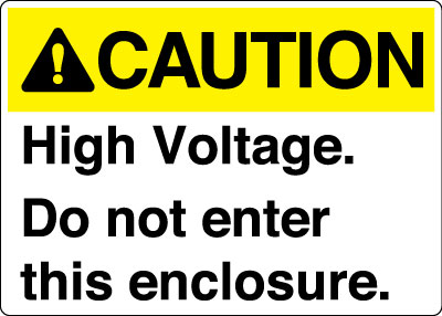 Electrical Safety Sign Caution High Voltage Do Not