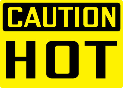 Equipment and Operational Sign - Caution: Hot | Stonehouse ...