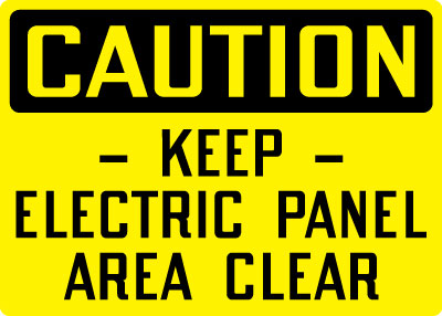 Pipe line stonehouse signs stonehouse signs electrical safety sign caution keep electric panel area clear publicscrutiny Image collections