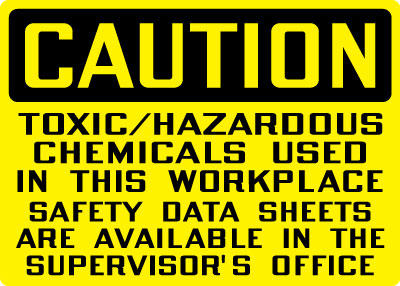 Hazardous Chemicals And Materials Sign Caution Toxic