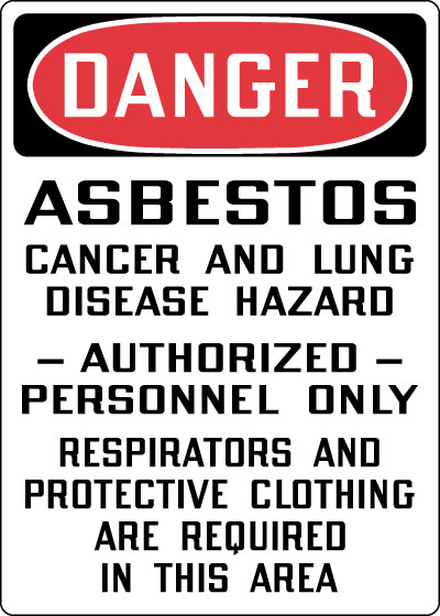 Hazardous Chemicals And Materials Sign Danger Asbestos