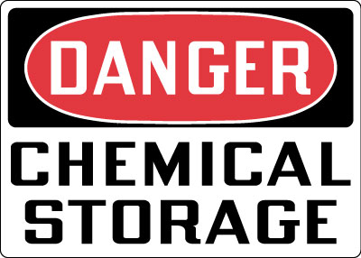 Hazardous Chemicals And Materials Sign Danger Chemical