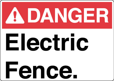 electrical safety sign danger electric fence