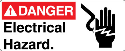 Electrical Safety Sign Danger Electrical Hazard With