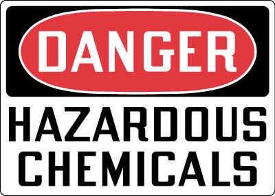 Hazardous Chemicals And Materials Sign Danger Hazardous
