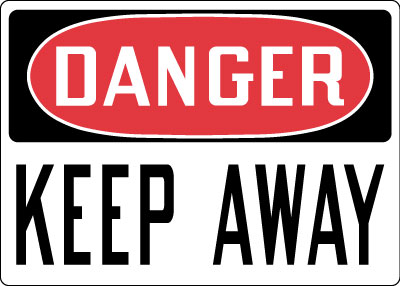 Admittance Amp Security Sign Danger Keep Away