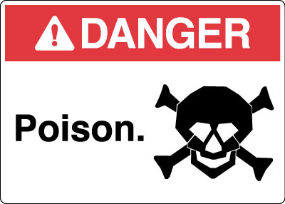 Hazardous Chemicals And Materials Sign Danger Poison