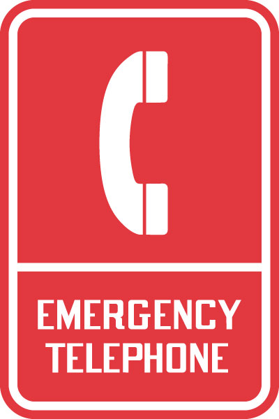 Trail and Symbol Sign - Emergency Telephone with Symbol ...