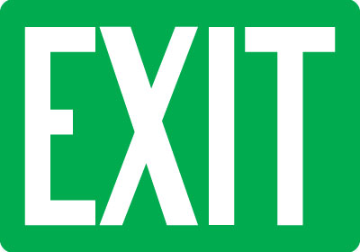 Emergency Exit Directional Signs