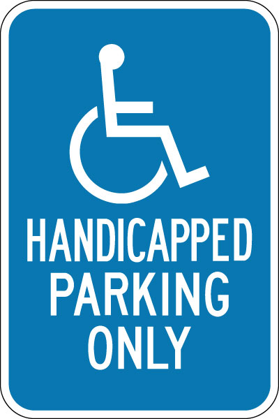 parking and traffic control sign handicapped parking only with symbol stonehouse signs. Black Bedroom Furniture Sets. Home Design Ideas