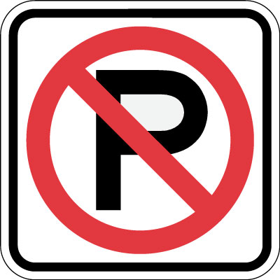 Parking And Traffic Control Sign No Parking Symbol 12 X 12