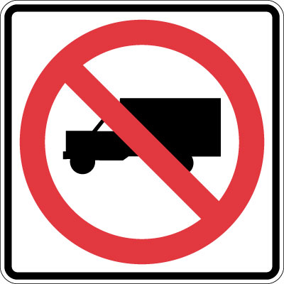 Control Sign  No Trucks Symbol Reflective  Stonehouse Signs