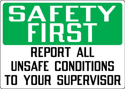 Safety Communications Safety First Report All Unsafe
