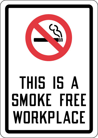 Smoking Control Sign This Is A Smoke Free Workplace With