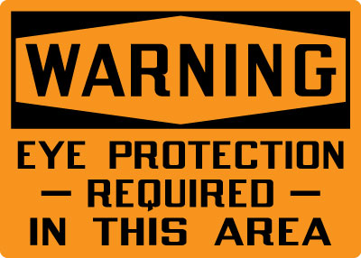 Personal Protection Sign Warning Eye Protection