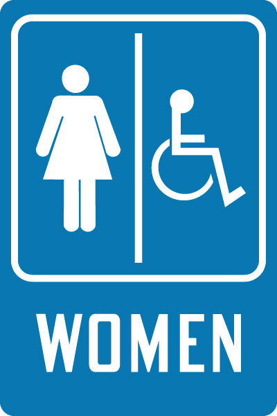 Handicap Restroom Sign Women With SymbolHandicap Accessible - Handicap bathroom sign