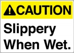 Caution Slippery When Wet ANSI