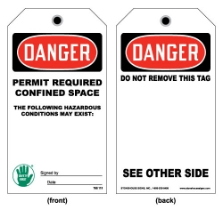 OSHA Confined Space Tag- Permit Required Confined Space