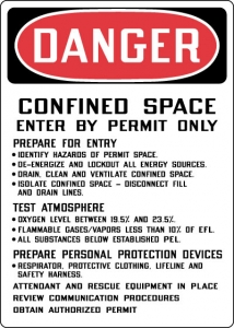 OSHA Confined Space Signs- Confined Space Entry Procedures