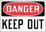 OSHA Admittance and Security Safety Signs from Stonehouse Signs