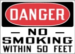 OSHA Smoking Control Safety Signs from Stonehouse Signs