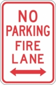 Stonehouse Signs No Parking Fire Lane Sign with Double Arrow