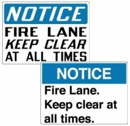 Stonehouse Signs Caution Fire Lane Keep Clear Sign ANSI and OSHA