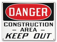Stonehouse Baked Enamel Safety Signs last longer than a standard aluminum sign.