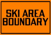 Durable Outdoor Ski Area Boundary Signs and Markers