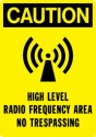 Telecom High Level Radio Frequency Signs