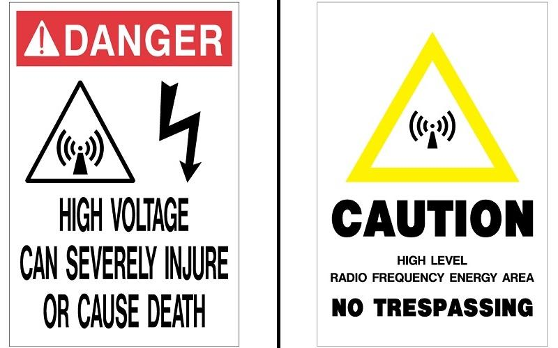 Stonehouse Signs Cellular Signs Danger High Voltage Caution No Trespassing