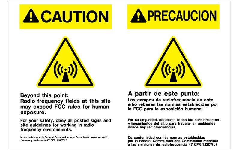 Stonehouse Signs Cellular Signs Cell Tower Signs Frequency Fields Sign