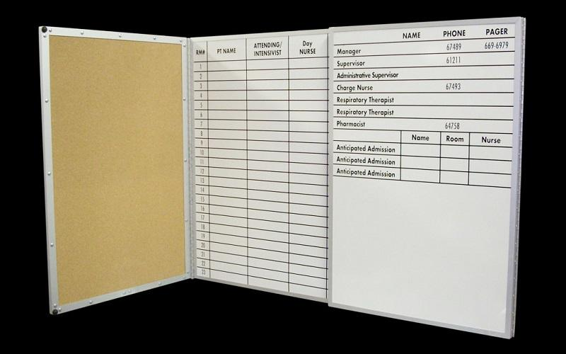 Stonehouse Signs Magnetic Dry Erase & Cork Combo Board