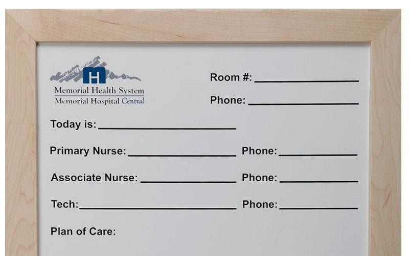 Stonehouse Signs Custom Patient Room Whiteboard