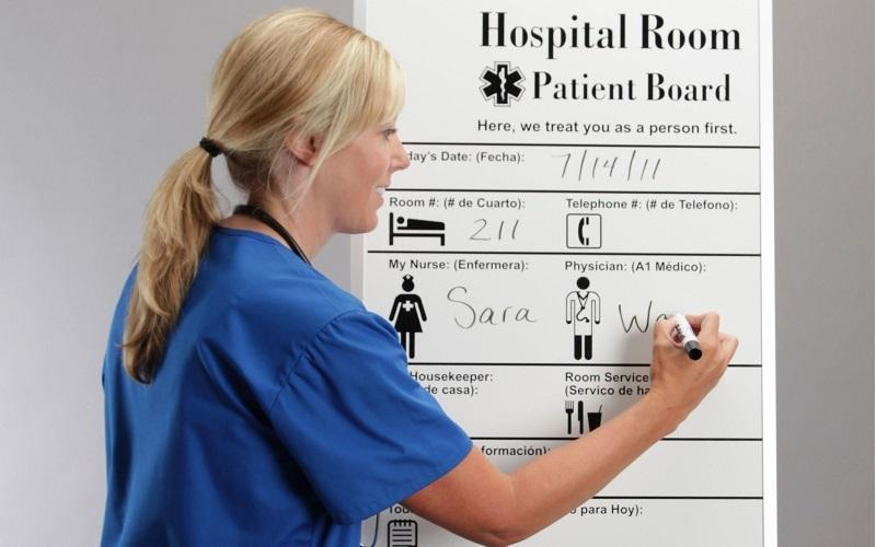 Stonehouse Signs Custom Medical Patient Room Dry Erase Boards