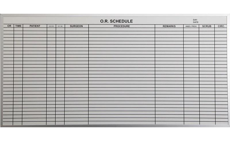 Stonehouse Signs Patient Scheduling and Tracking  Dry Erase Boards