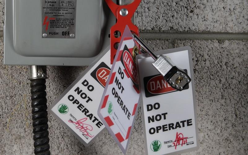 Stonehouse Signs Reusable Laminated Lockout Tags