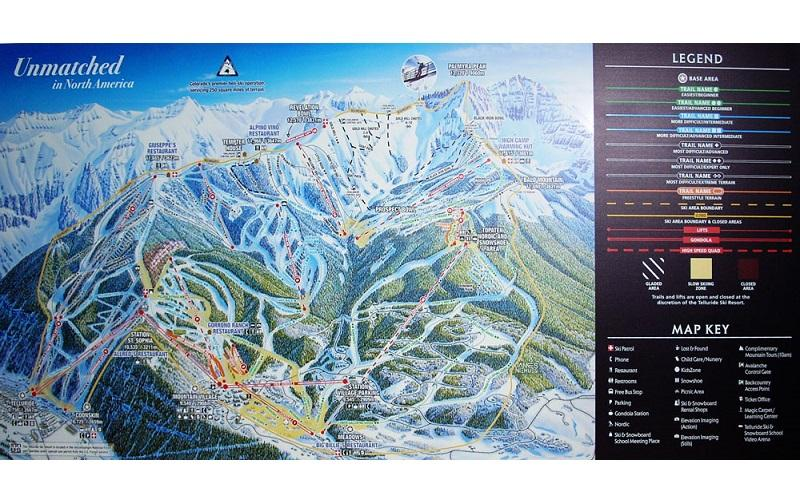 Stonehouse Signs Large Digitally Printed Ski Mountain Map