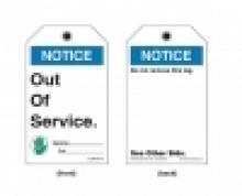 ANSI Out Of Service Tags Maintenance Tags