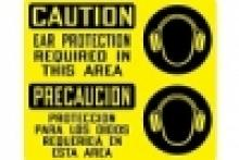 Stonehouse Signs - Caution Ear Protection Required Bilingual Safety Sign