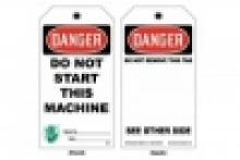Stonehouse Signs Lockout Safety Tag Danger Do Not Start This Machine