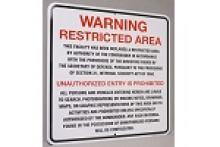 Stonehouse Signs Custom Restricted Area Homeland Security Signs