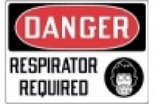 Stonehouse Signs Danger Respirator Required Sign